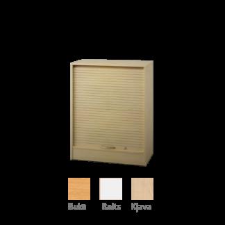 Plaukts ar vertikālajām žalūziju durvīm 102x80 cm