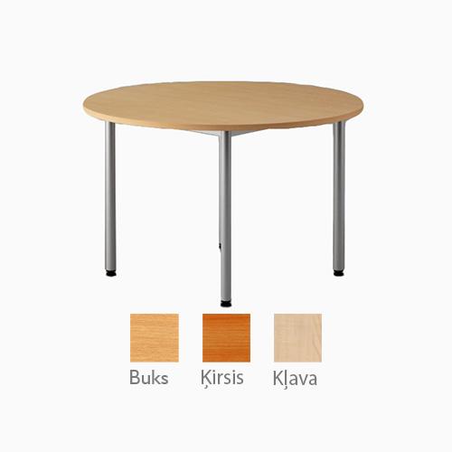 Apaļš galds uz metāla rāmja ar LKSP virsmu 120 cm