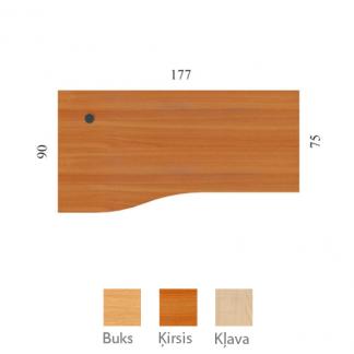 Galda virsma 177x90/75 cm